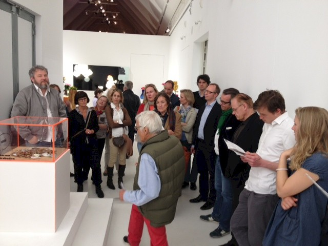 Guided tour with Tobias Rehberger, Schirn, photo: NN, 2014