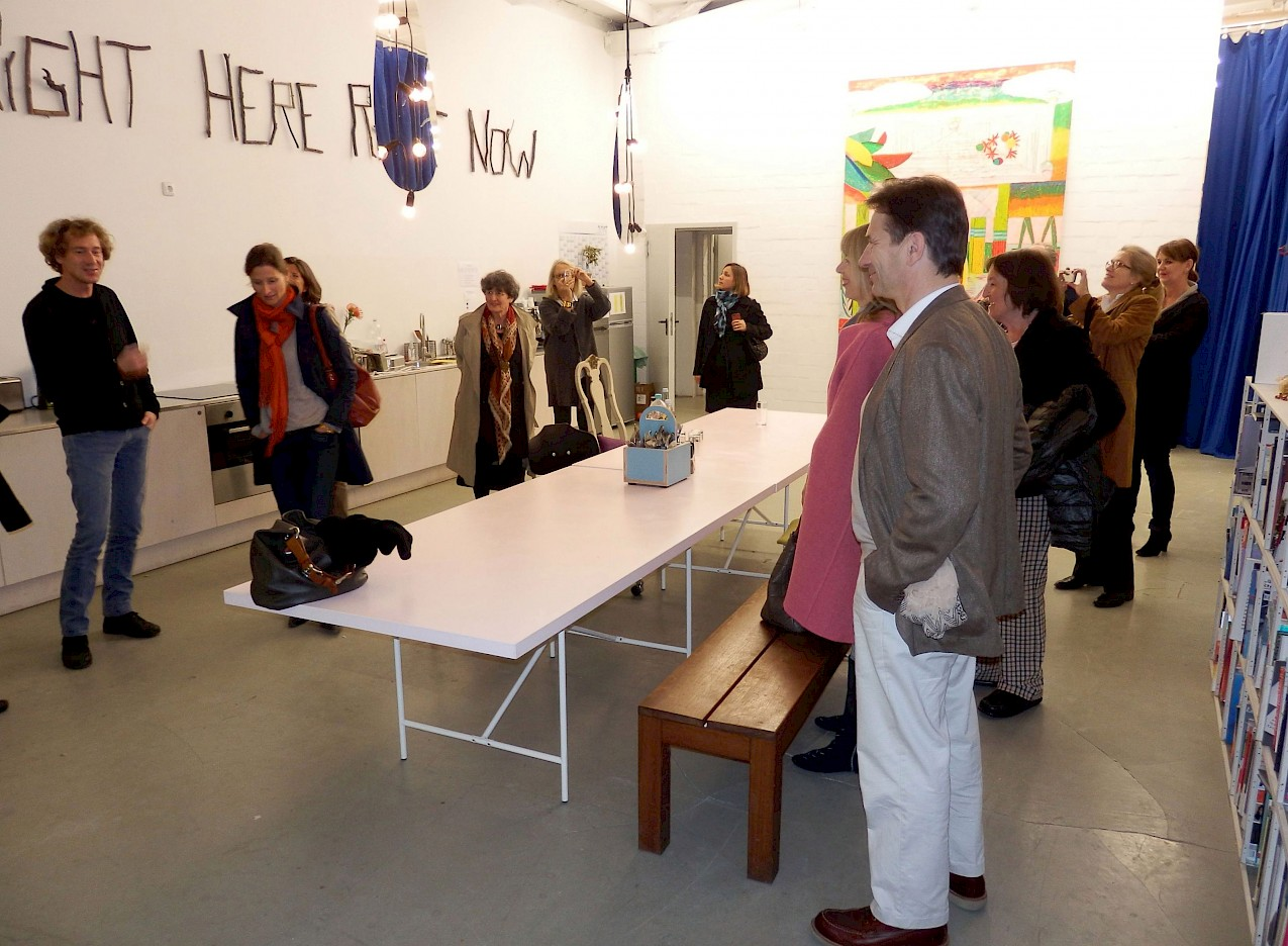 Studio visit with Jeppe Hein, photo: NN, 2013