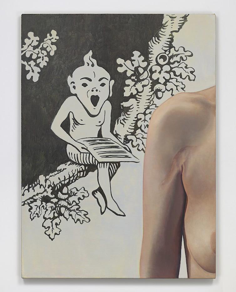 Allison Katz: Elf-Esteem, 2017, oil and acrylic on linen, 130 x 95 cm