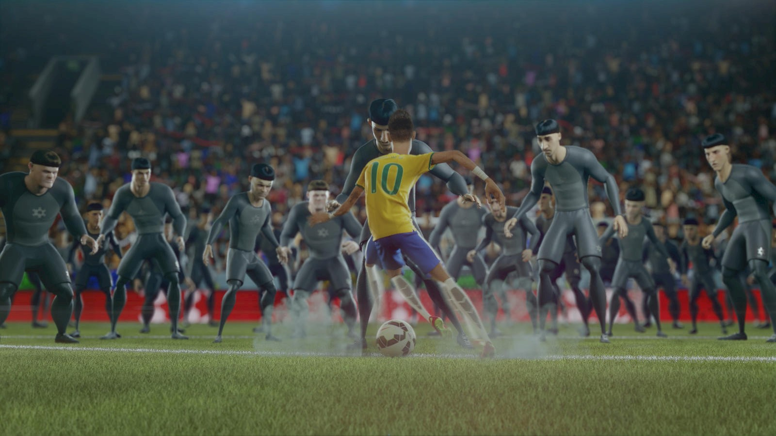 Still from The Last Game, animation, 5min. Created by Wieden+Kennedy, as a part of Nike's Risk Everything campaign, 2014