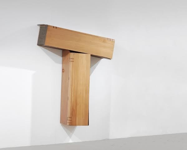 Angela de la Cruz / T Piece, 2005 / two wooden wardrobes / 240 x 161 x 68 cm (Top)