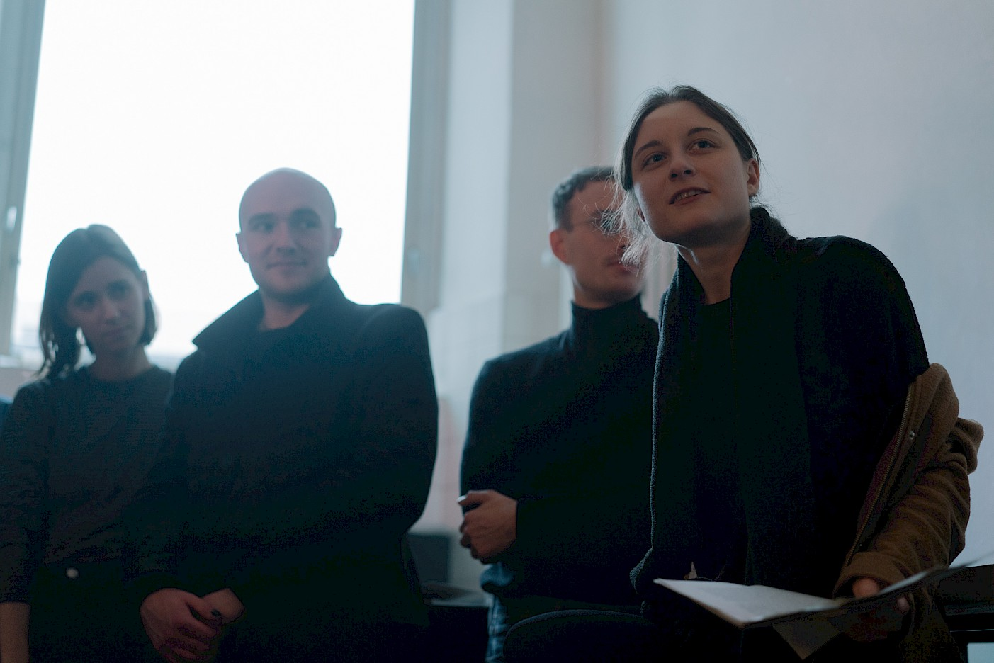 Buchpräsentation After Facts, Curatorial Studies, Filmküche, Rundgang 2018, Foto: Béla Feldberg
