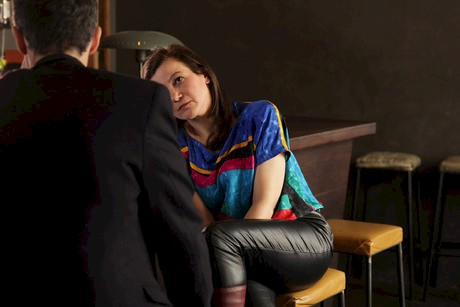 """Kerstin Cmelka """"Mikrodrama#11"""", 2014, Setfotografie, Performer: Mario Mentrup, Kerstin Cmelka"""