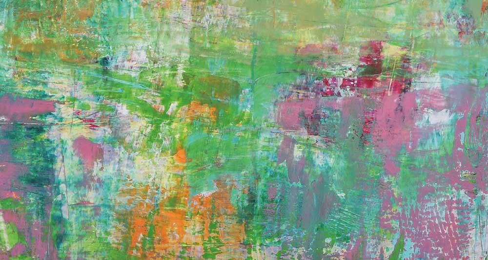 Thomas Roth, 12.10.2007, Acryl und Öl auf Nessel, 145 x 145 cm (Detail)