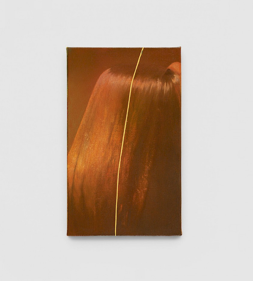 Louise Giovanelli, Axis, 2020, oil on canvas, 30 x 18 cm (LGV0068) Coutesy of the artist and WORKPLACE