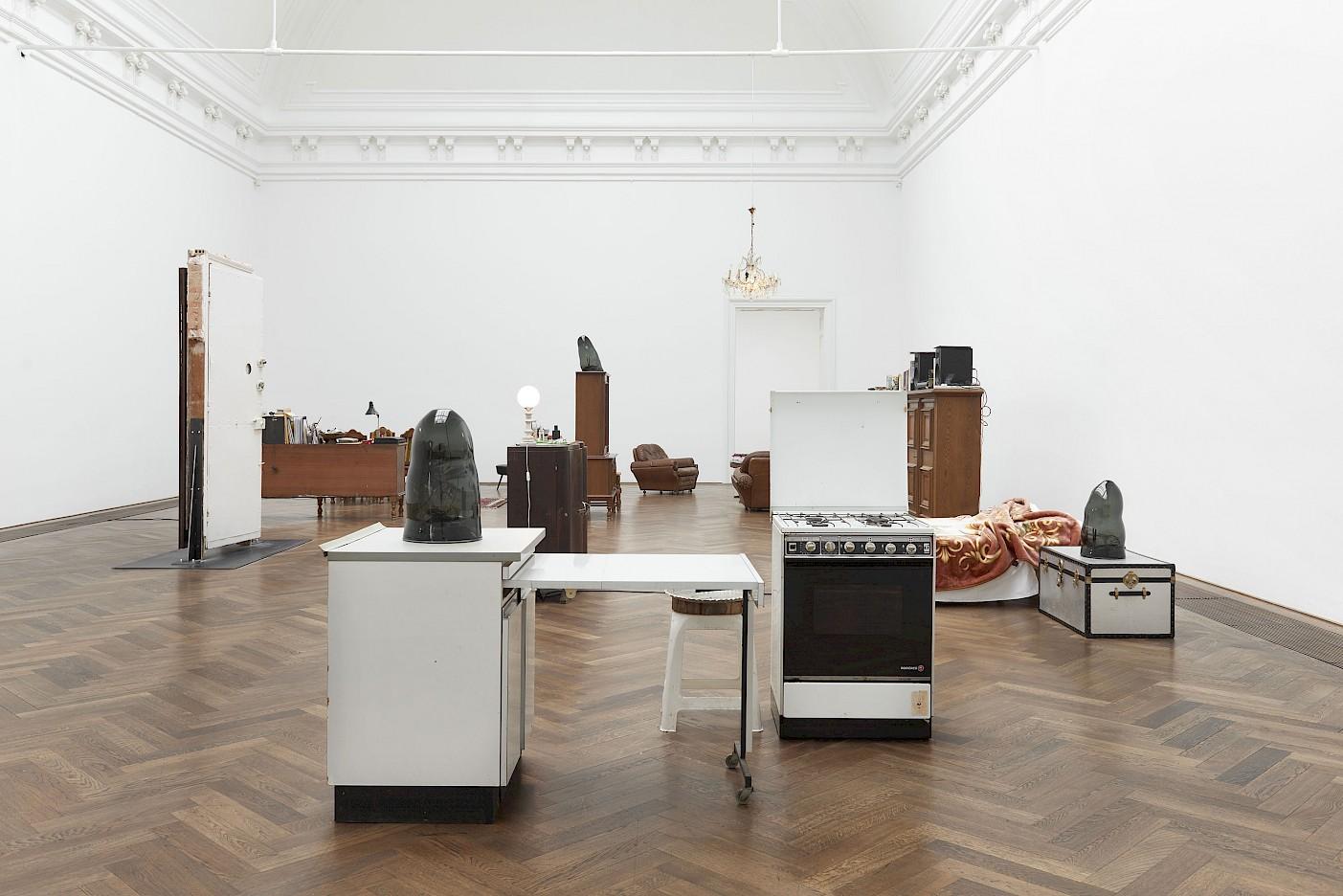 Credit: Installation view, Lydia Ourahmane, Barzakh, Kunsthalle Basel, 2021. Photo: Philipp Hänger / Kunsthalle Basel