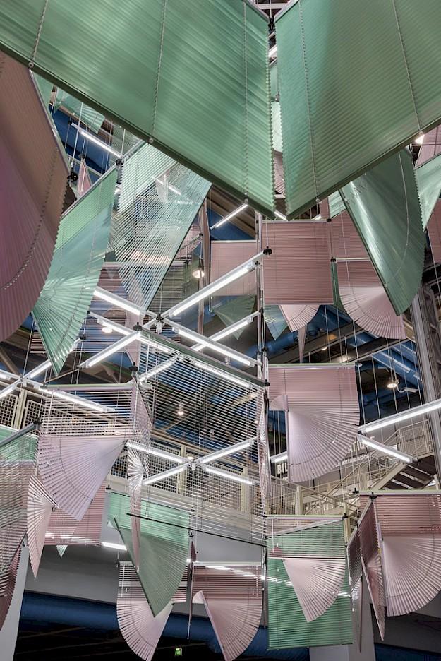 haegue yang, installation view of lingering nous, centre pompidou, paris, 2016 courtesy of the artist and centre pompidou, paris